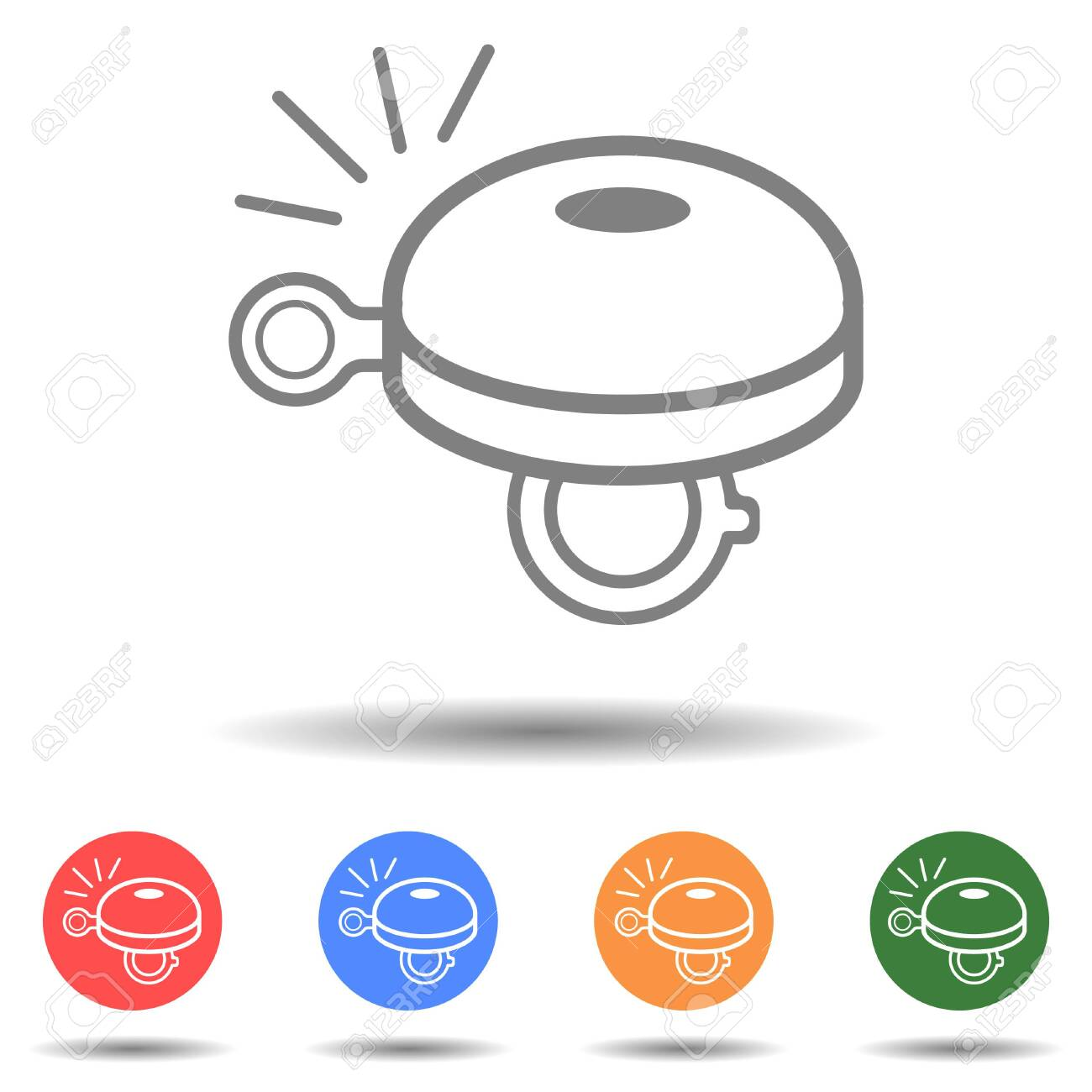 Bicycle bell icon vector isolated on background - 155054599