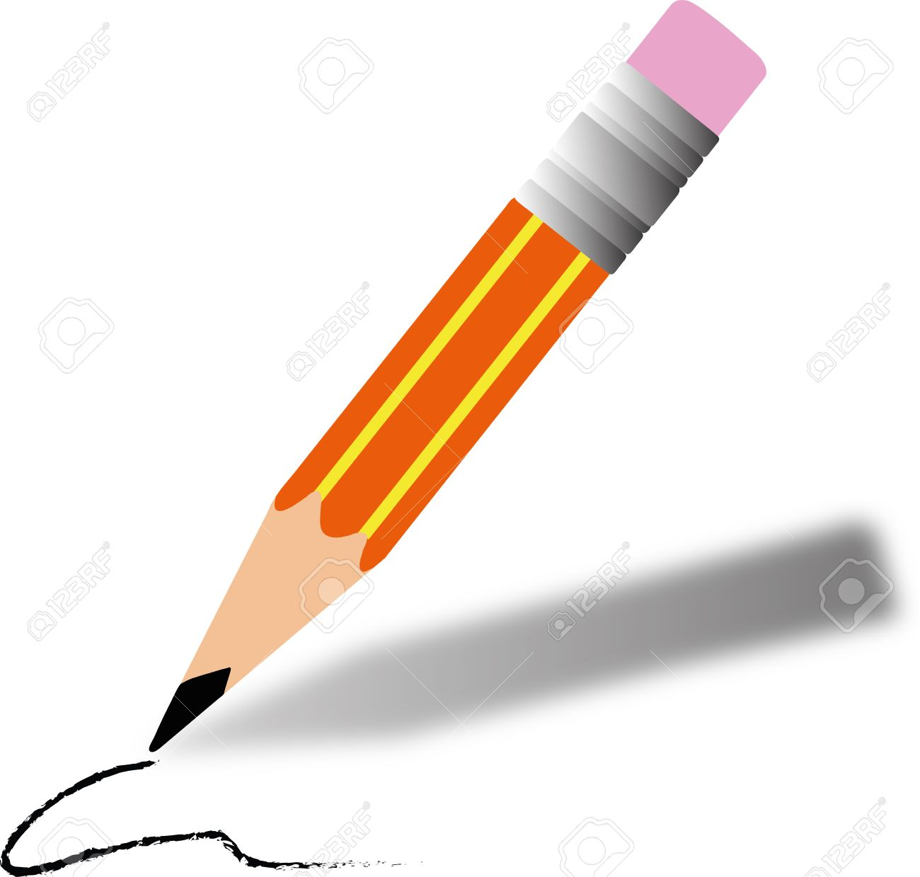 illustration of a cartoon pencil writing royalty free cliparts vectors and stock illustration image 33764977
