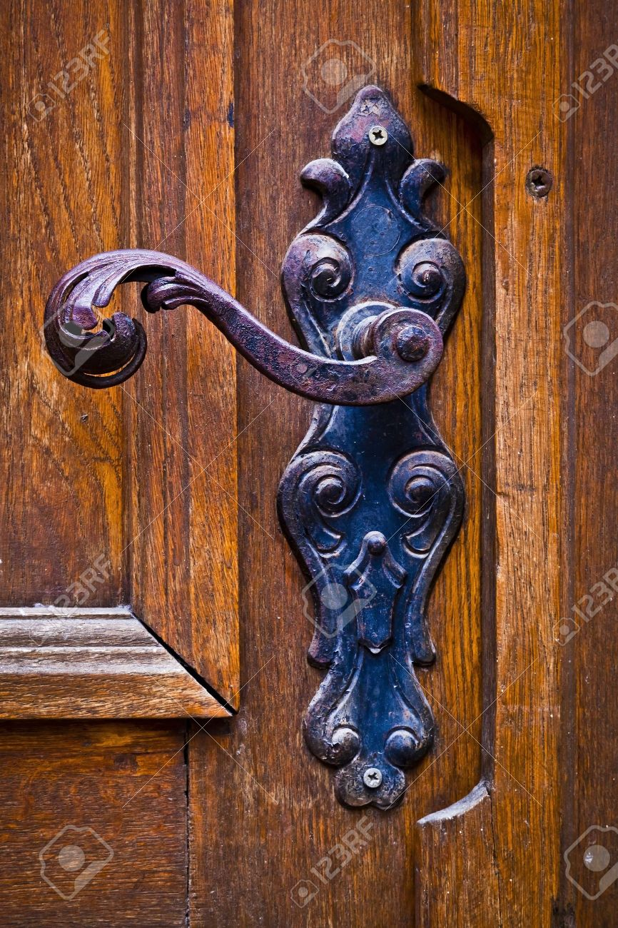 Decorative antique door handles Stock Photo - 16656310 - Decorative Antique Door Handles Stock Photo, Picture And Royalty