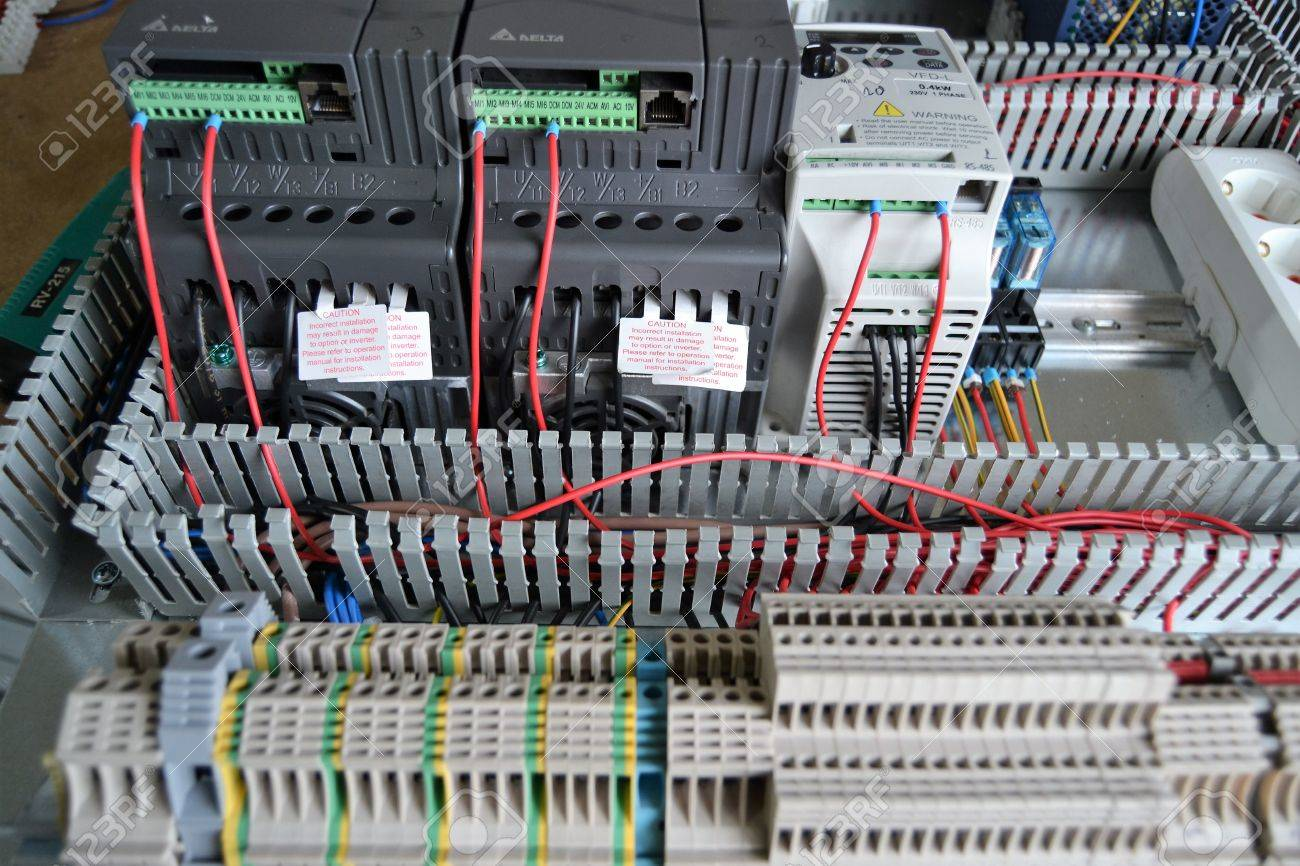 Industrial automation, PLC system, AC motor speed control