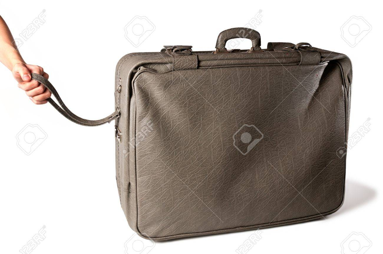 Large travel bag of 80s Stock Photo - 8306484