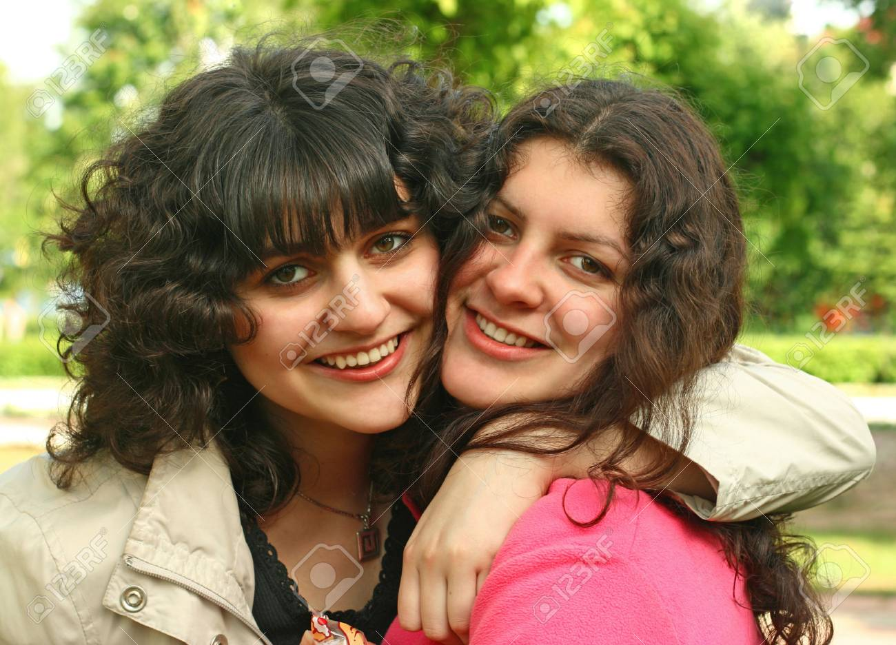 Two sisters having fun together Stock Photo - 3737983