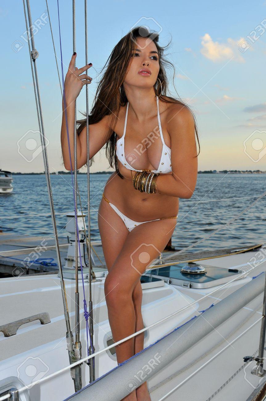 Sexy latina on boat