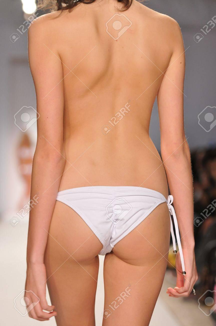 7ede24ecf2914 MIAMI - JULY 18: Model walks runway at the Perfect Tan Bikini Collection  for Spring