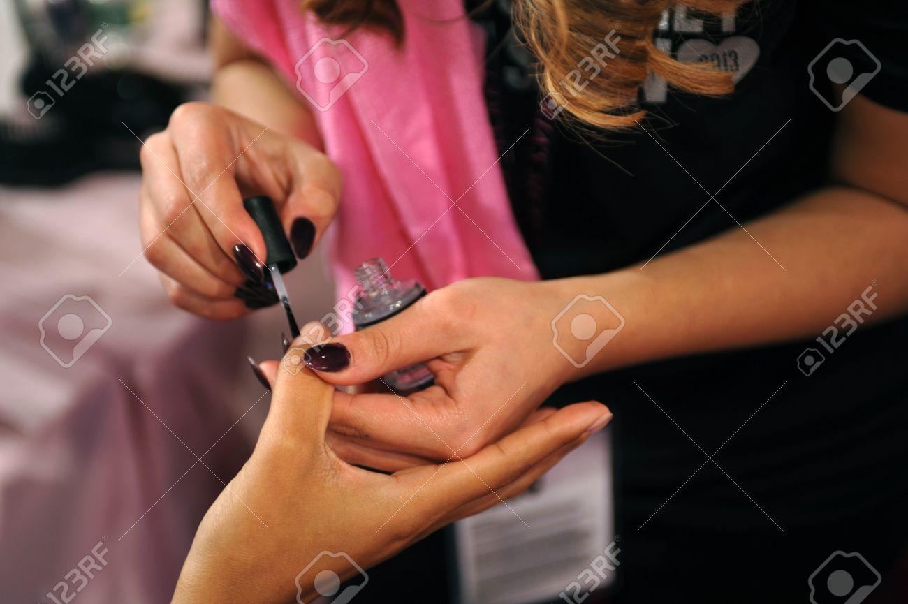 NEW YORK, NY - NOVEMBER 13: Model Jasmine Tookes During Nails ...