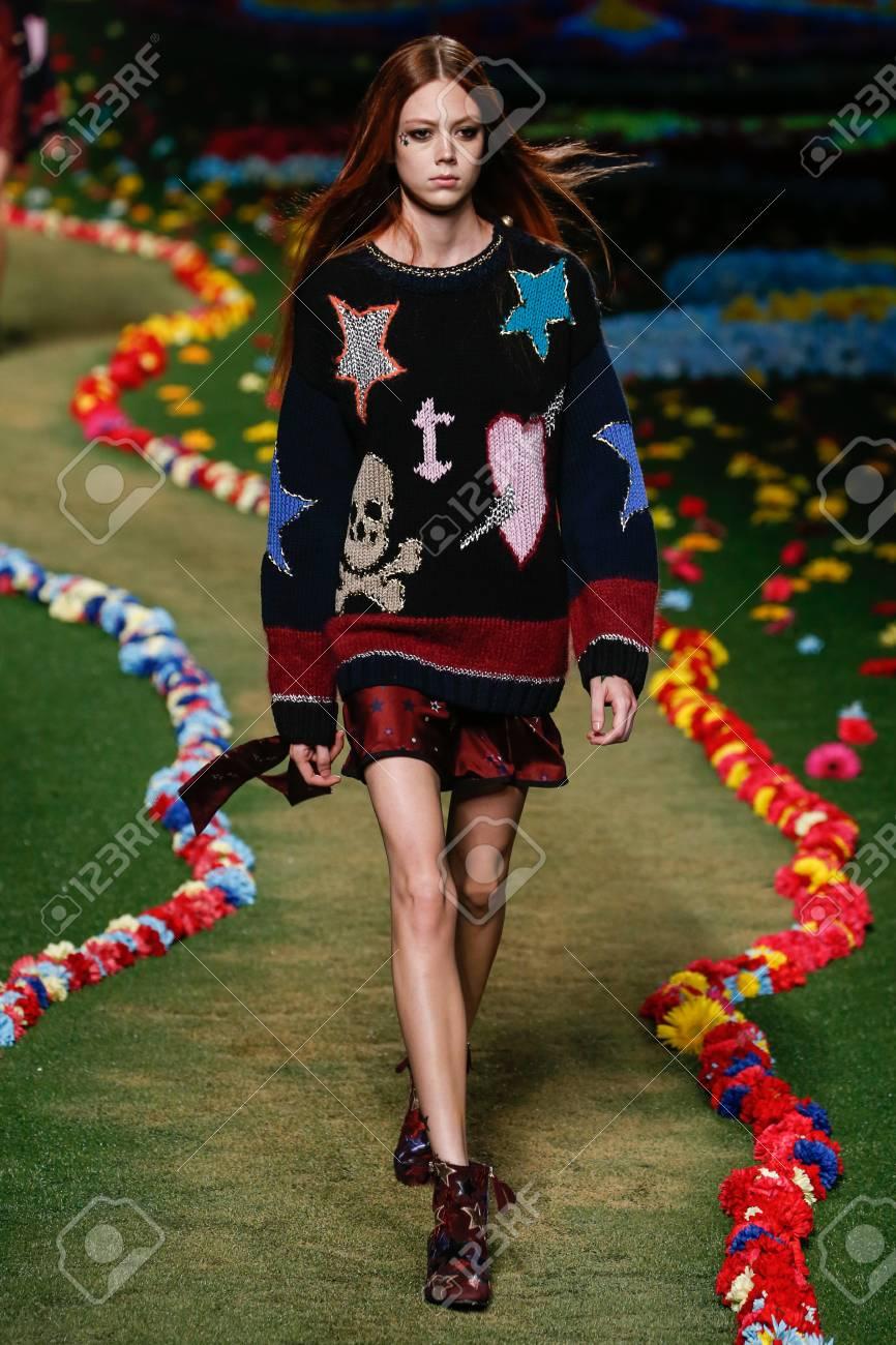 NEW YORK, NY SEPTEMBER 08: A model walks the runway at Tommy..