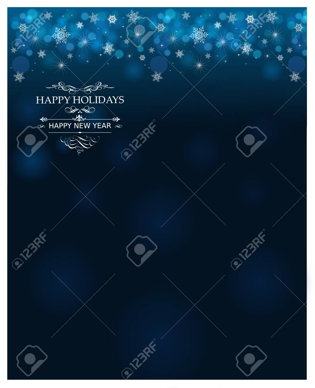 Winter Holidays Postcard Wallpaper Background Template Stock Photo