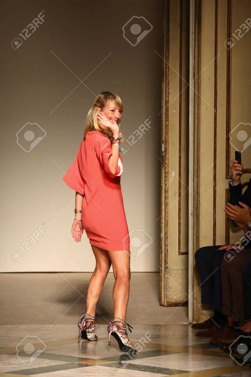 Milan Italy September 17 Fashion Designer Chicca Lualdi Acknowledges Stock Photo Picture And Royalty Free Image Image 35782879