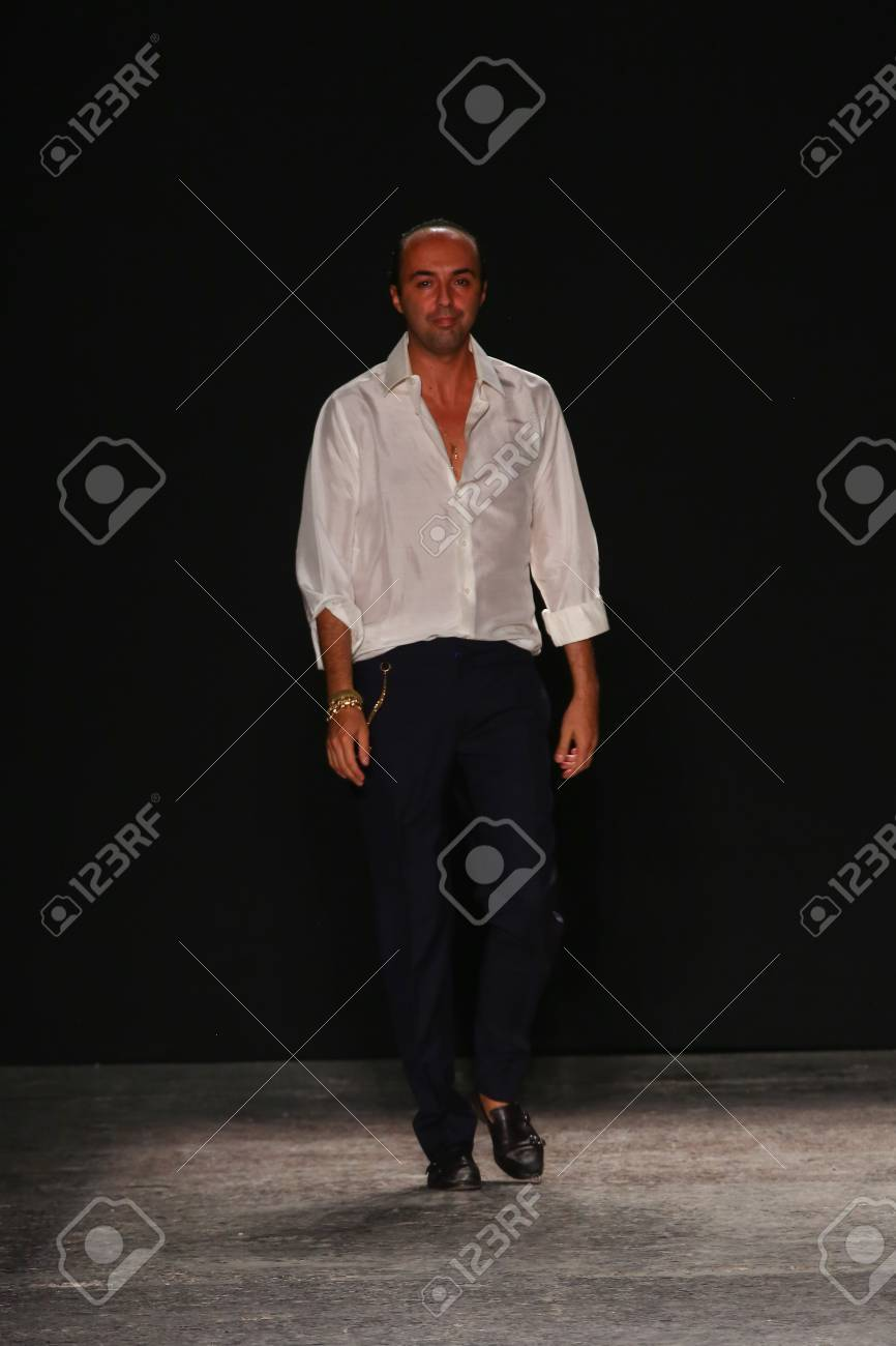 Milan Italy September 17 Fashion Designer Francesco Scognamiglio Stock Photo Picture And Royalty Free Image Image 35783106
