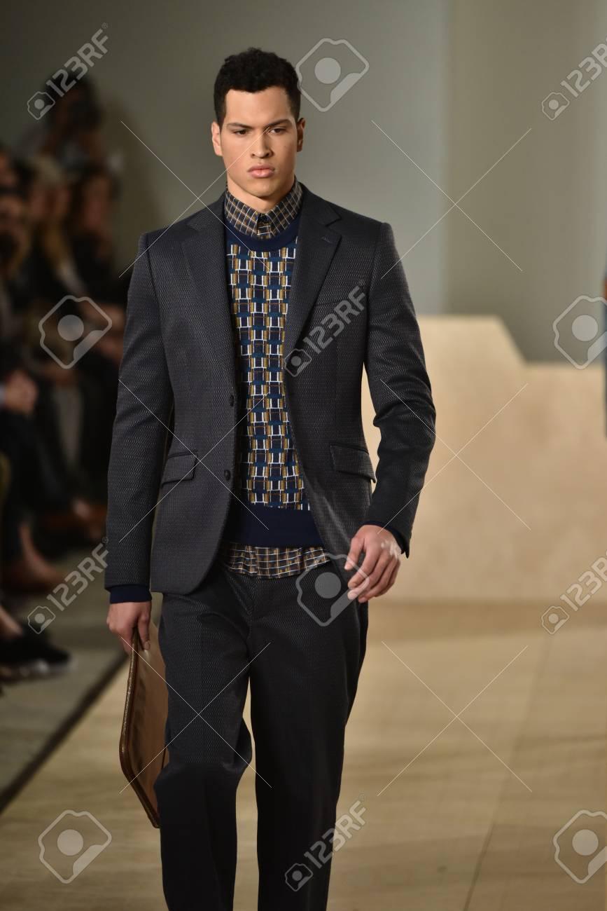 NEW YORK, NY - FEBRUARY 03: A model walks the runway wearing