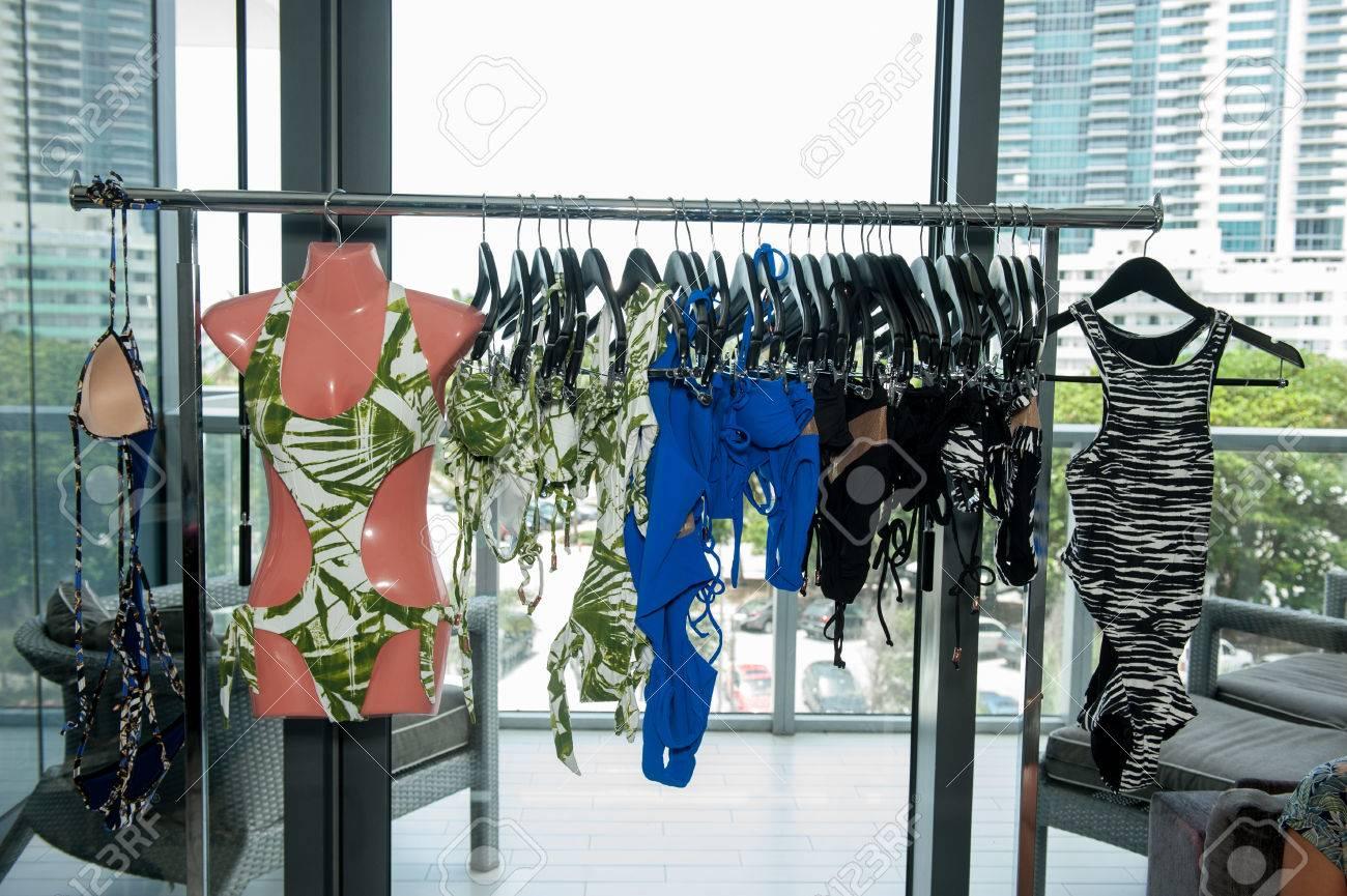 MIAMI, FL - JULY 18: A designers swim apparel by Honeybee brand