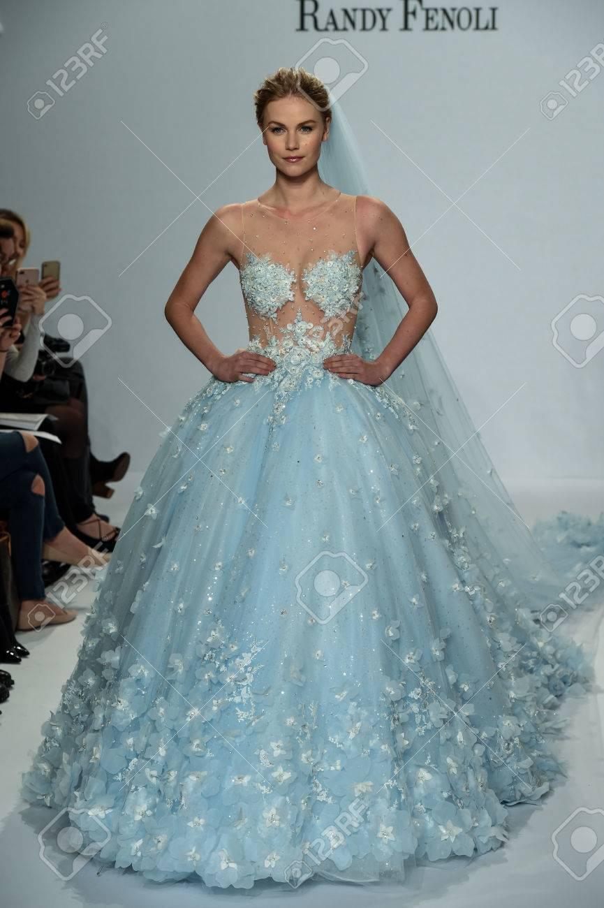 blue wedding dress by randy