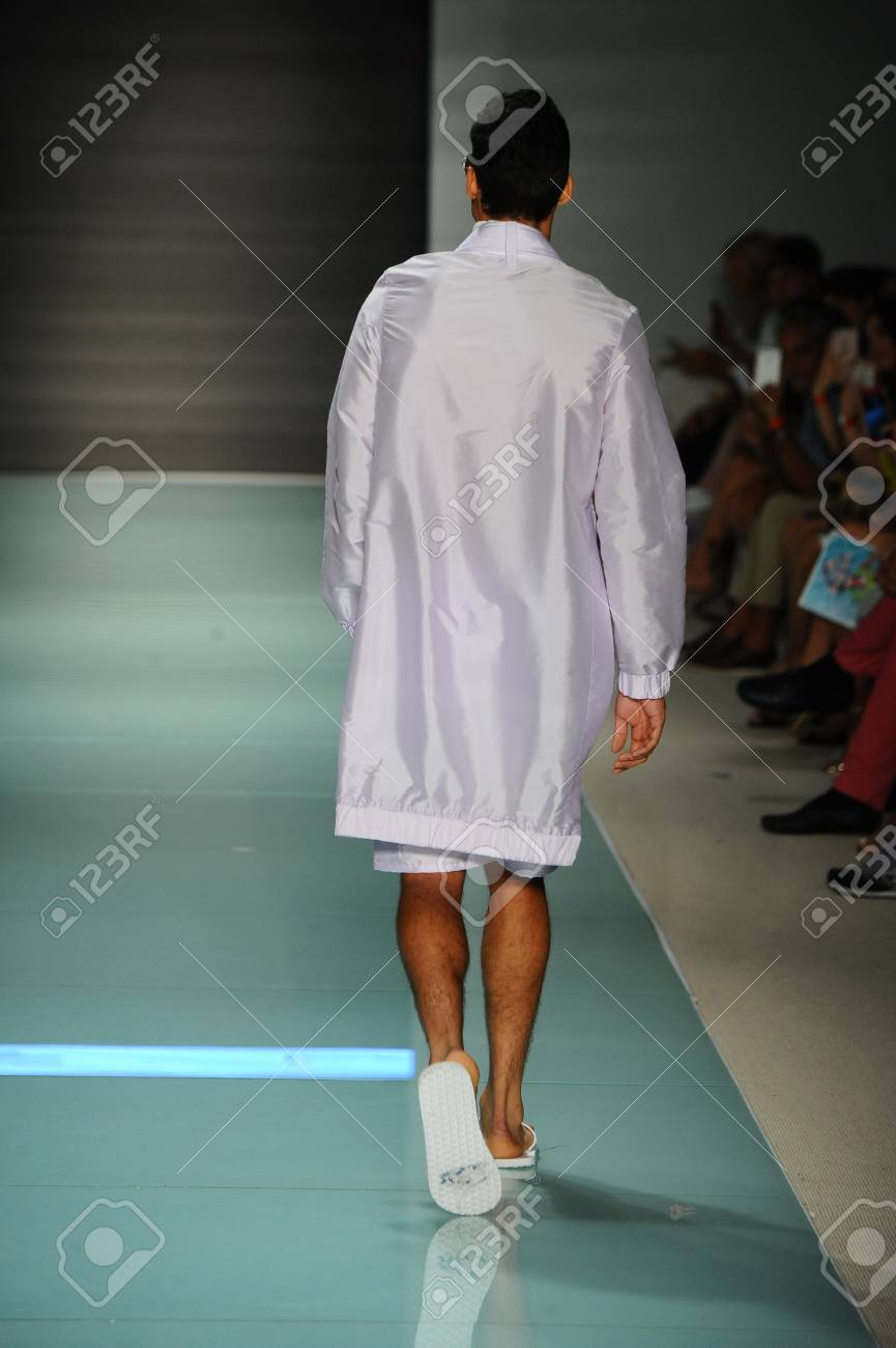 Miami Fl July 20 A Model Walks The Runway During The Miami Stock Photo Picture And Royalty Free Image Image 83451947
