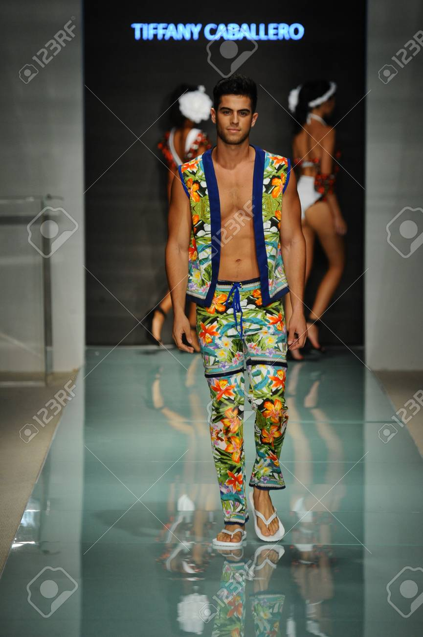 Miami Fl July 20 A Model Walks The Runway During The Miami Stock Photo Picture And Royalty Free Image Image 83450674