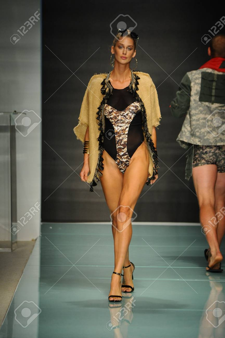 Miami Fl July 20 A Model Walks The Runway During The Miami Stock Photo Picture And Royalty Free Image Image 83450660