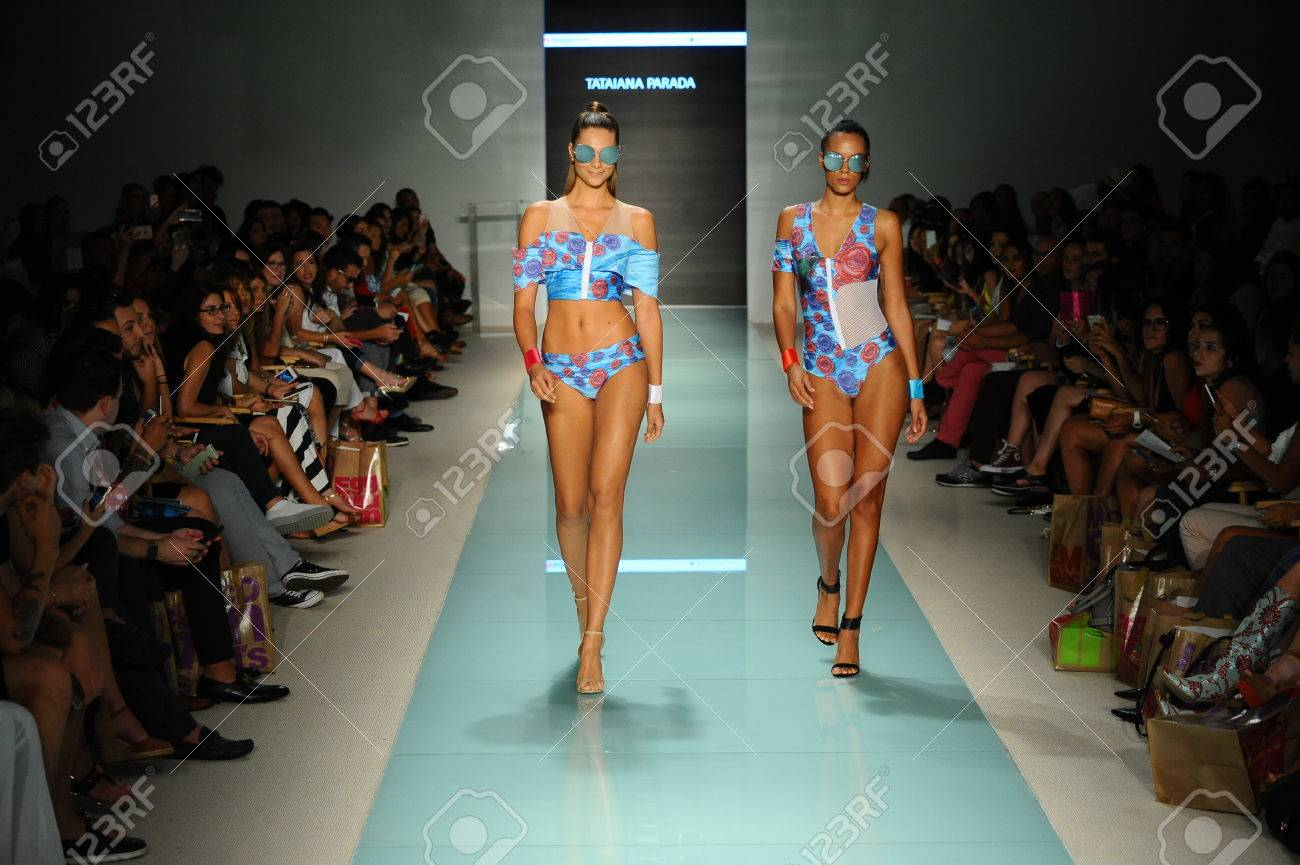 Miami Fl July 20 Models Walk The Runway During The Miami Stock Photo Picture And Royalty Free Image Image 83449294
