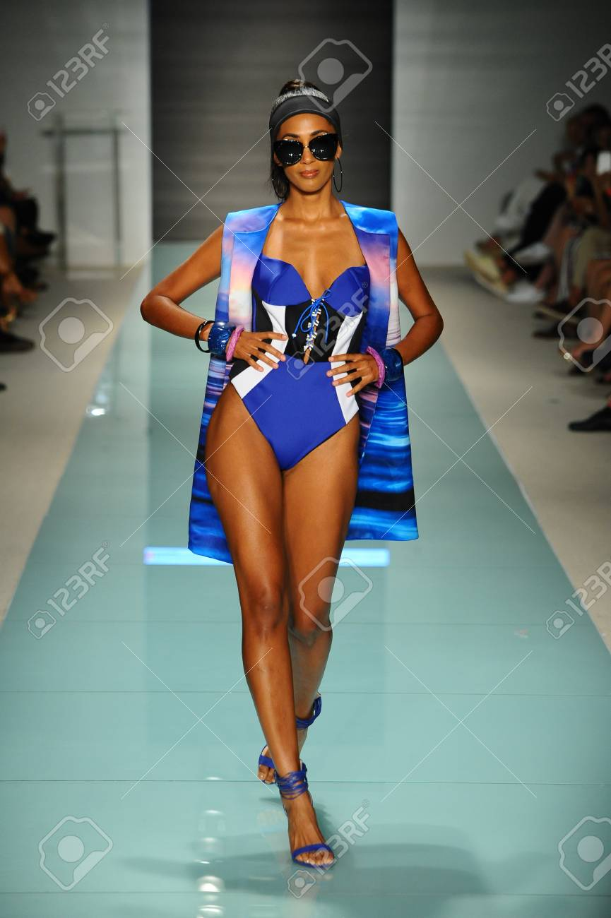 Miami Fl July 20 A Model Walks The Runway During The Miami Stock Photo Picture And Royalty Free Image Image 83449265