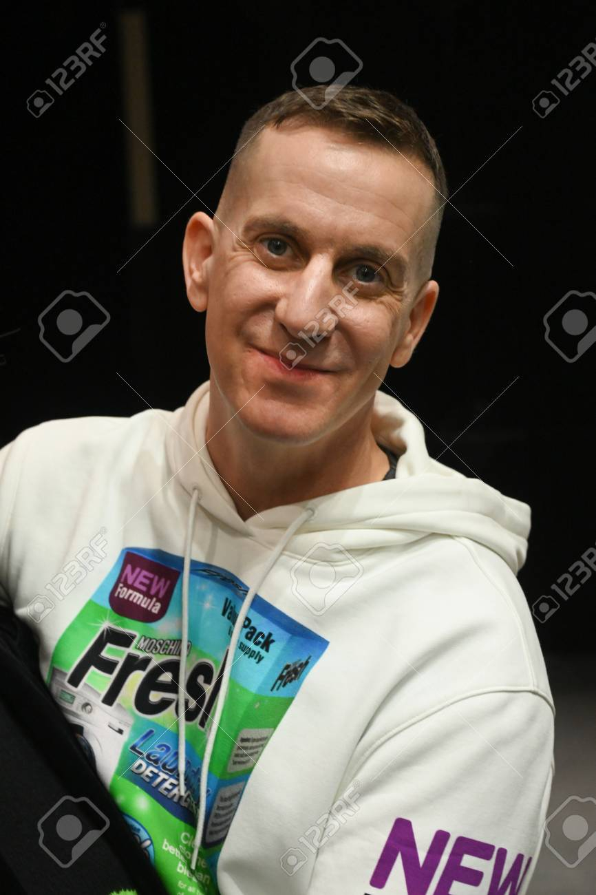 Milan Italy February 21 Designer Jeremy Scott Posing Backstage Stock Photo Picture And Royalty Free Image Image 120451421