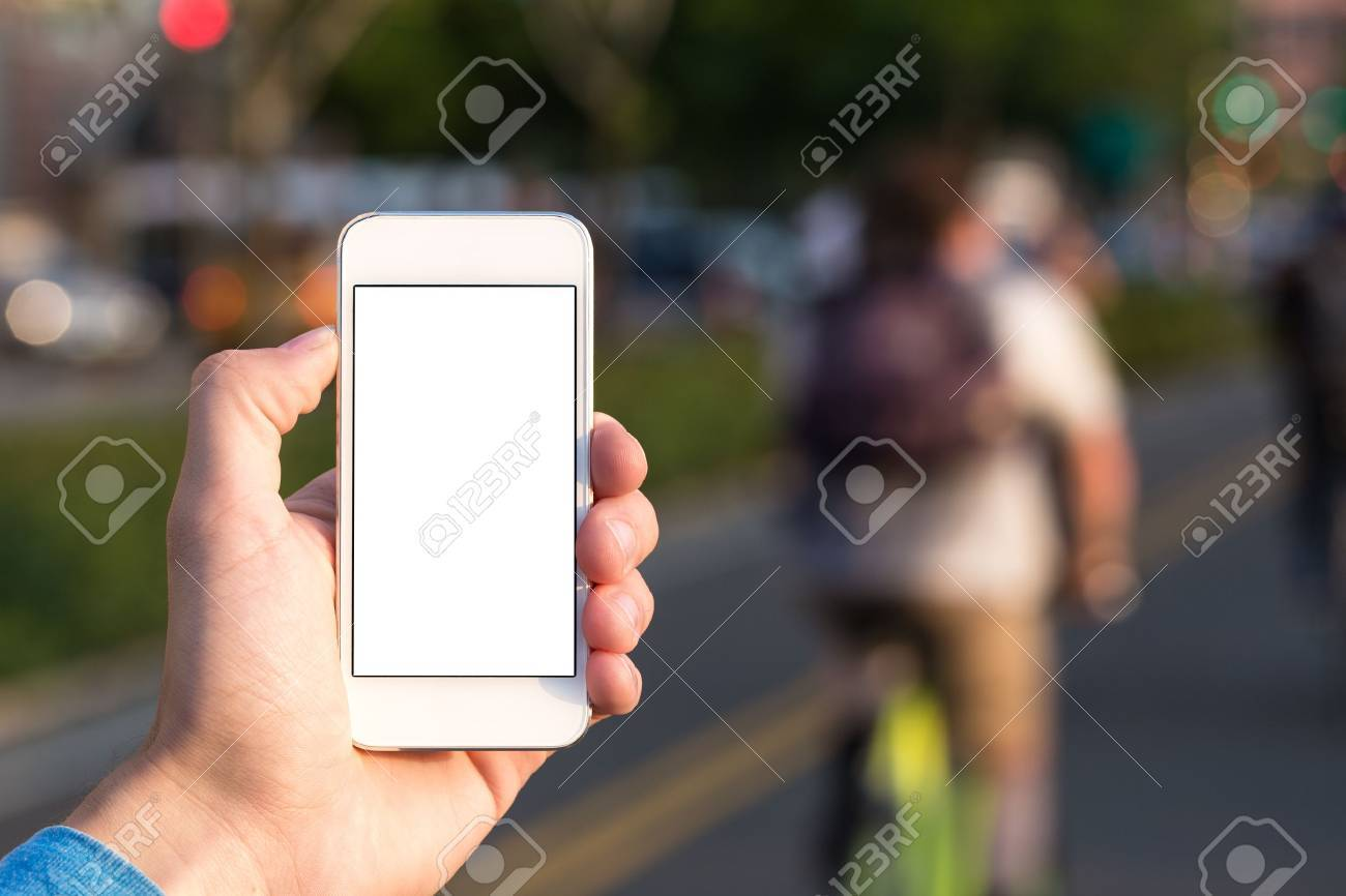 Men with phone in hand sport Stock Photo - 20460907