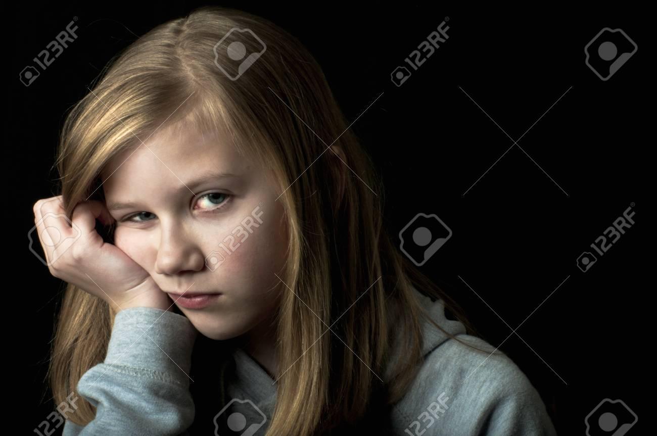 Depressed child Stock Photo - 18299598