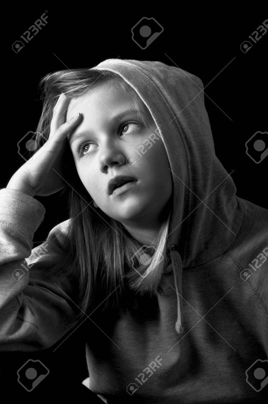 Worried child Stock Photo - 18693158