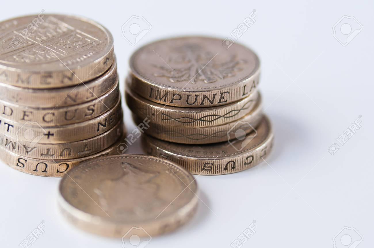 Britische Pfund Münze Währung Lizenzfreie Fotos Bilder Und Stock