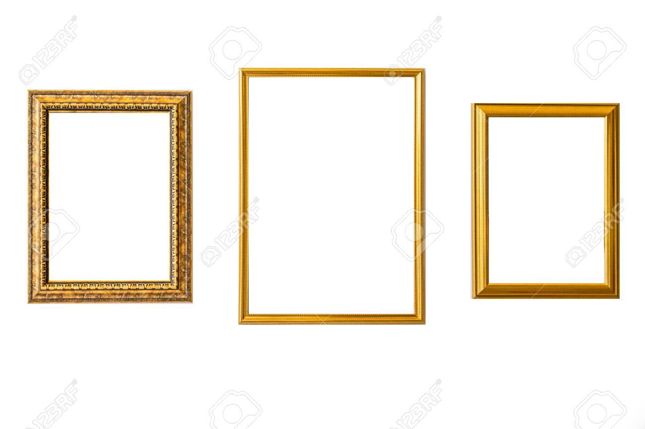 Gold Vintage-Rahmen. Eleganter Weinlesegold / Vergoldeter ...
