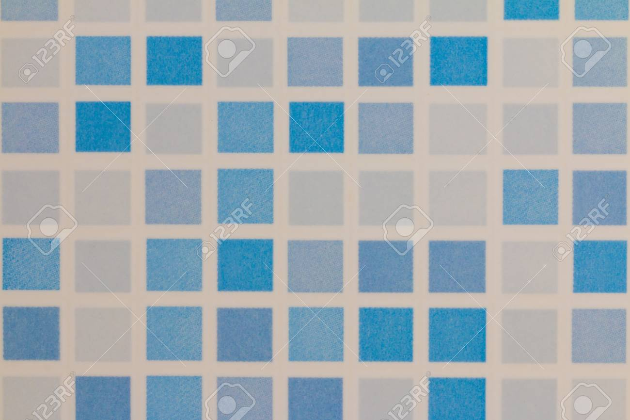 Blue And White Tile Ceramic Wall Background Stock Photo, Picture And ...
