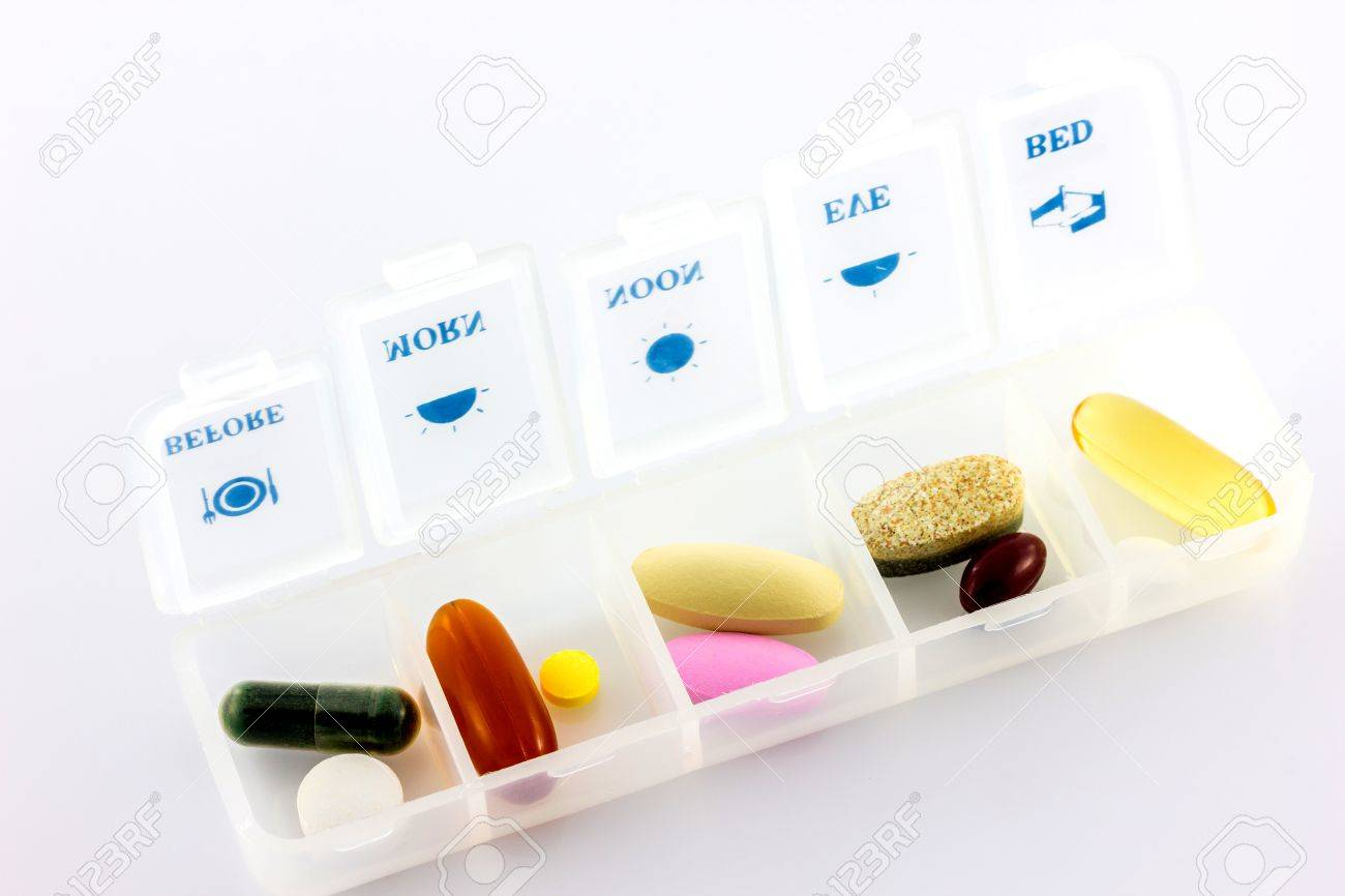 caja diaria de vitaminas