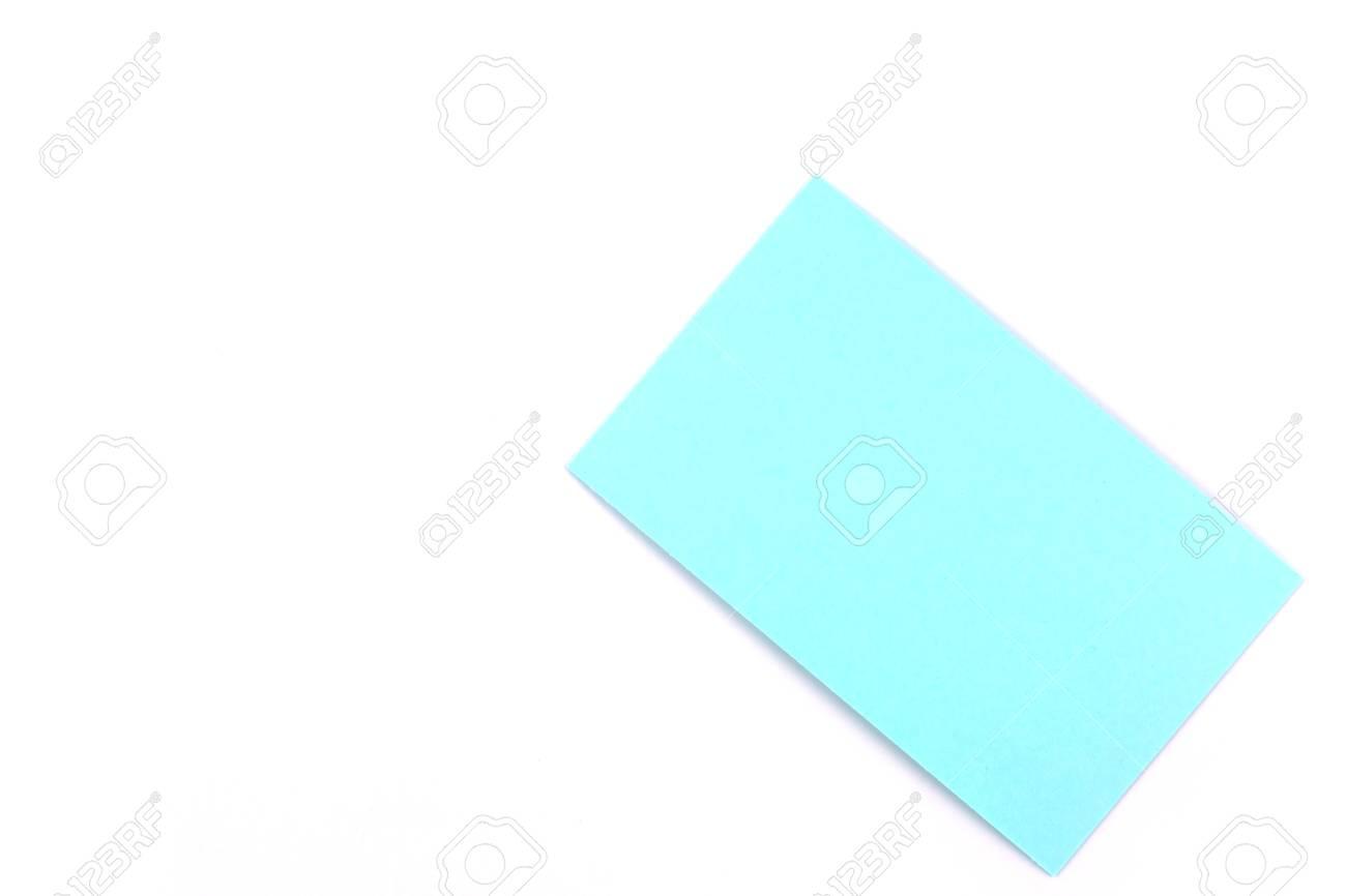 Couleur Carte De Visite Papier Isole Sur Fond Blanc Banque D