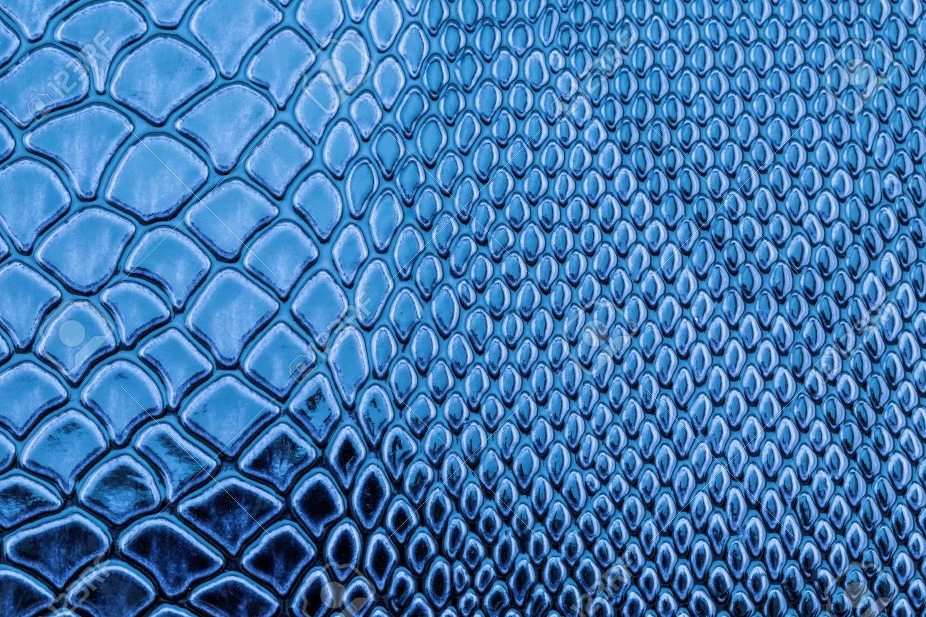Blue Exotic Snake Skin Pattern As A Wallpaper