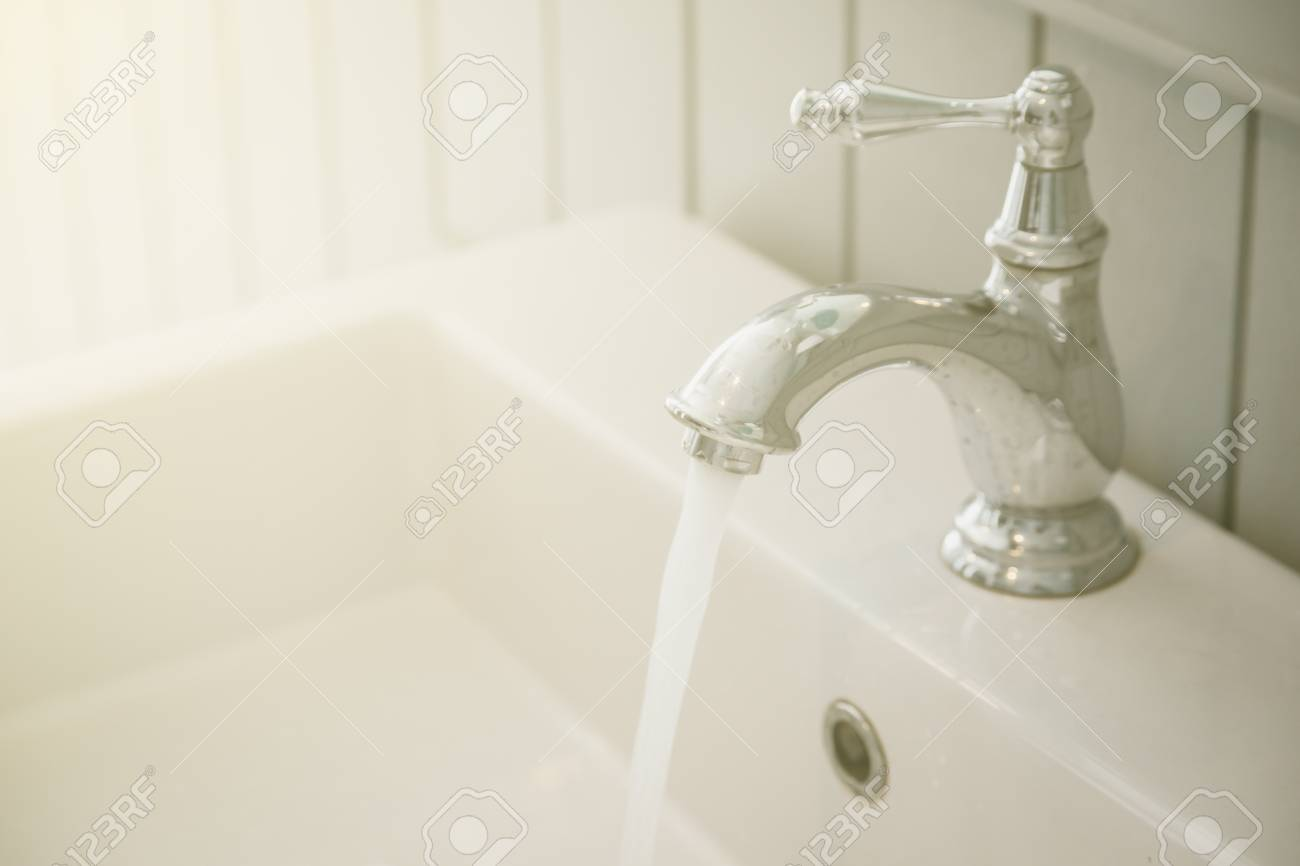 Faucets At Toilet Background Stock Photo, Picture And Royalty Free ...