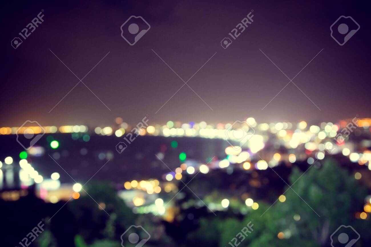 Blur Defocus Bokeh Of Light In The City With Dark Background Stock Photo Picture And Royalty Free Image Image 147709829