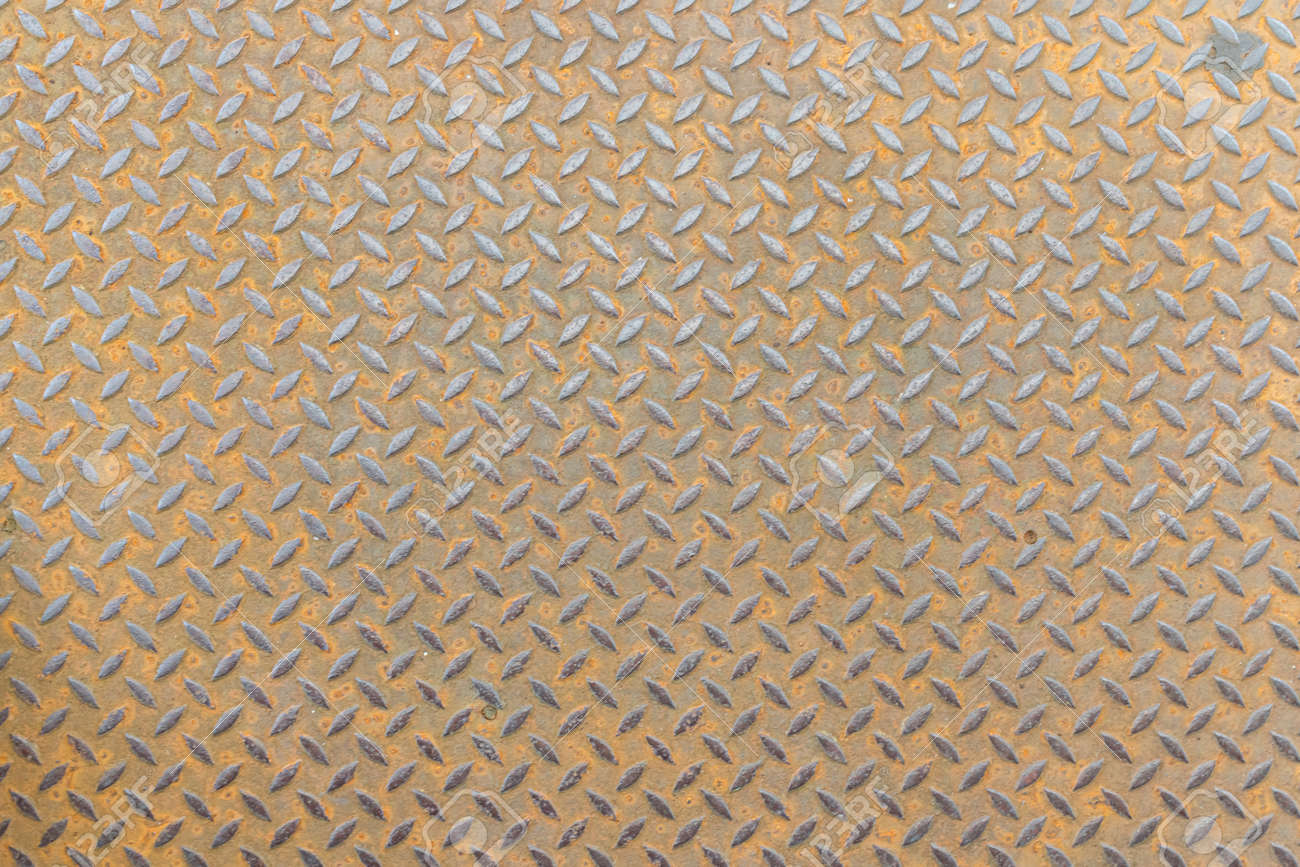 stainless steel floor plate texture background - 165972630