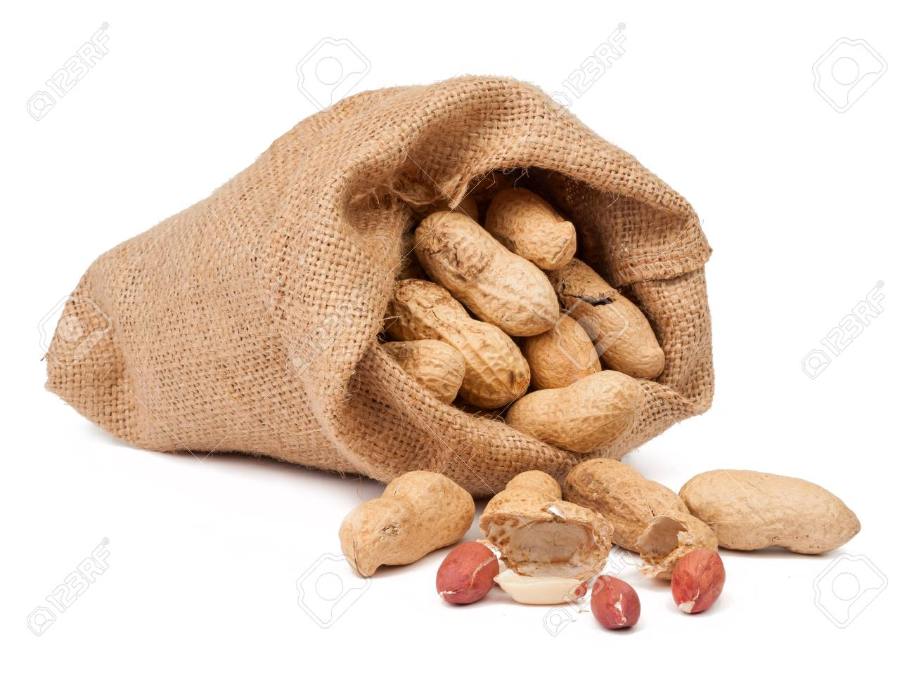33689925-spilled-bag-of-peanuts-isolated