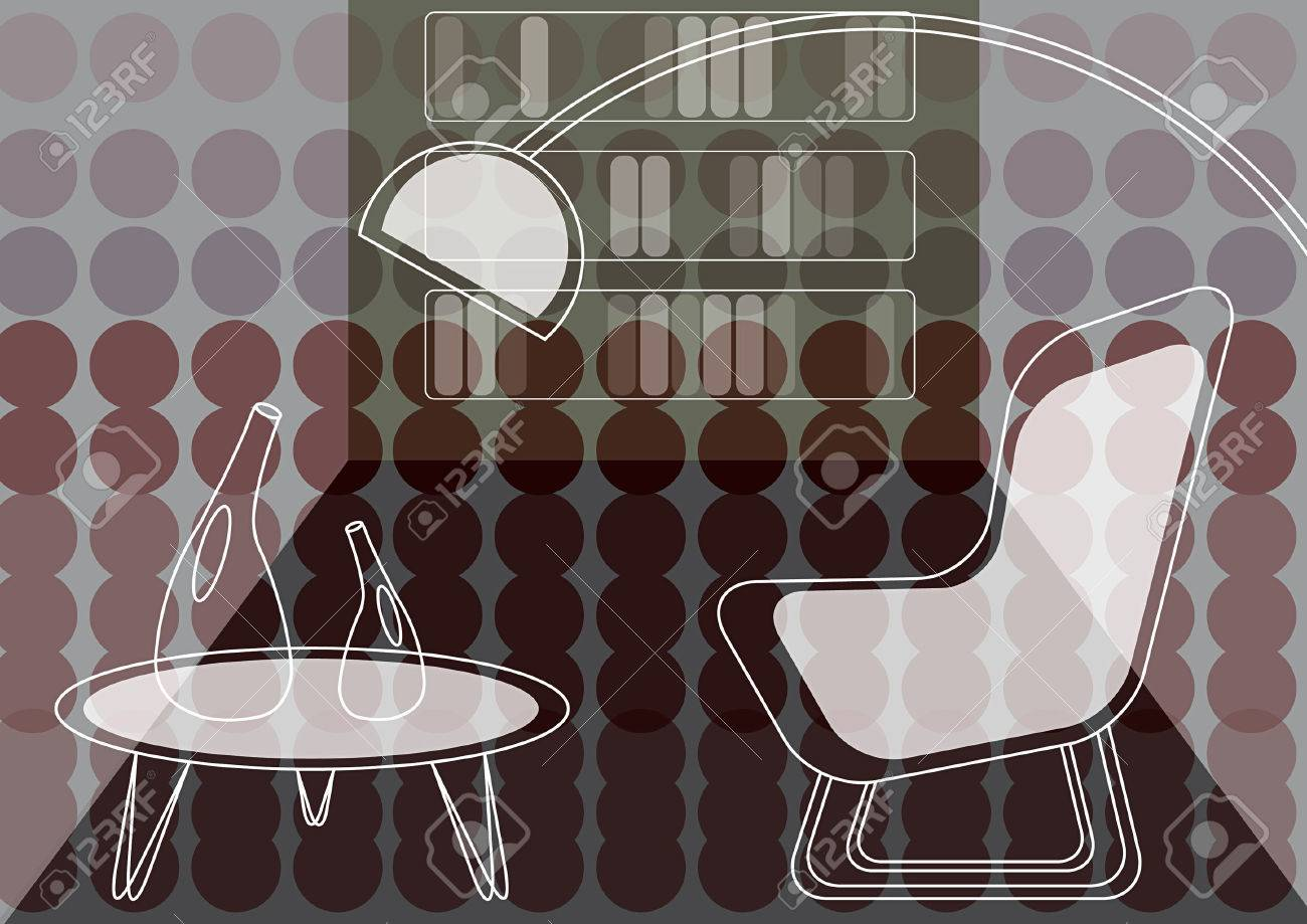 purple dots lounge (vector) Stock Vector - 1687024