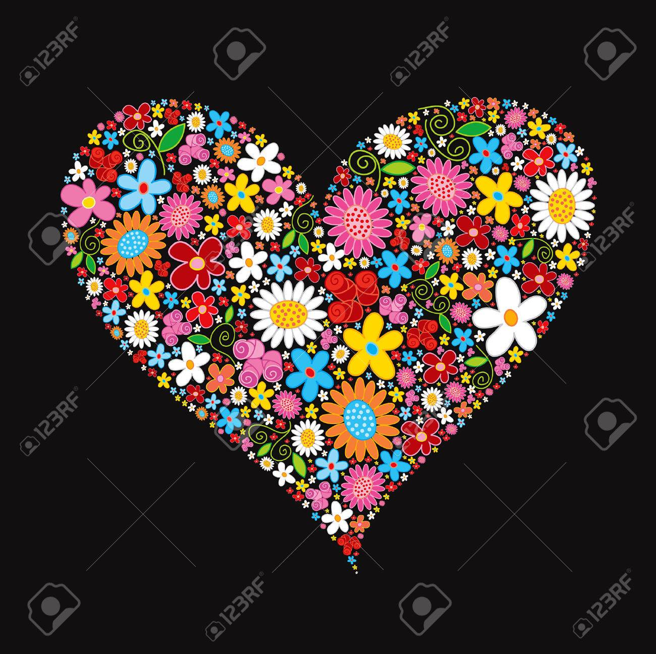 spring flower valentine heart Stock Vector - 1815934