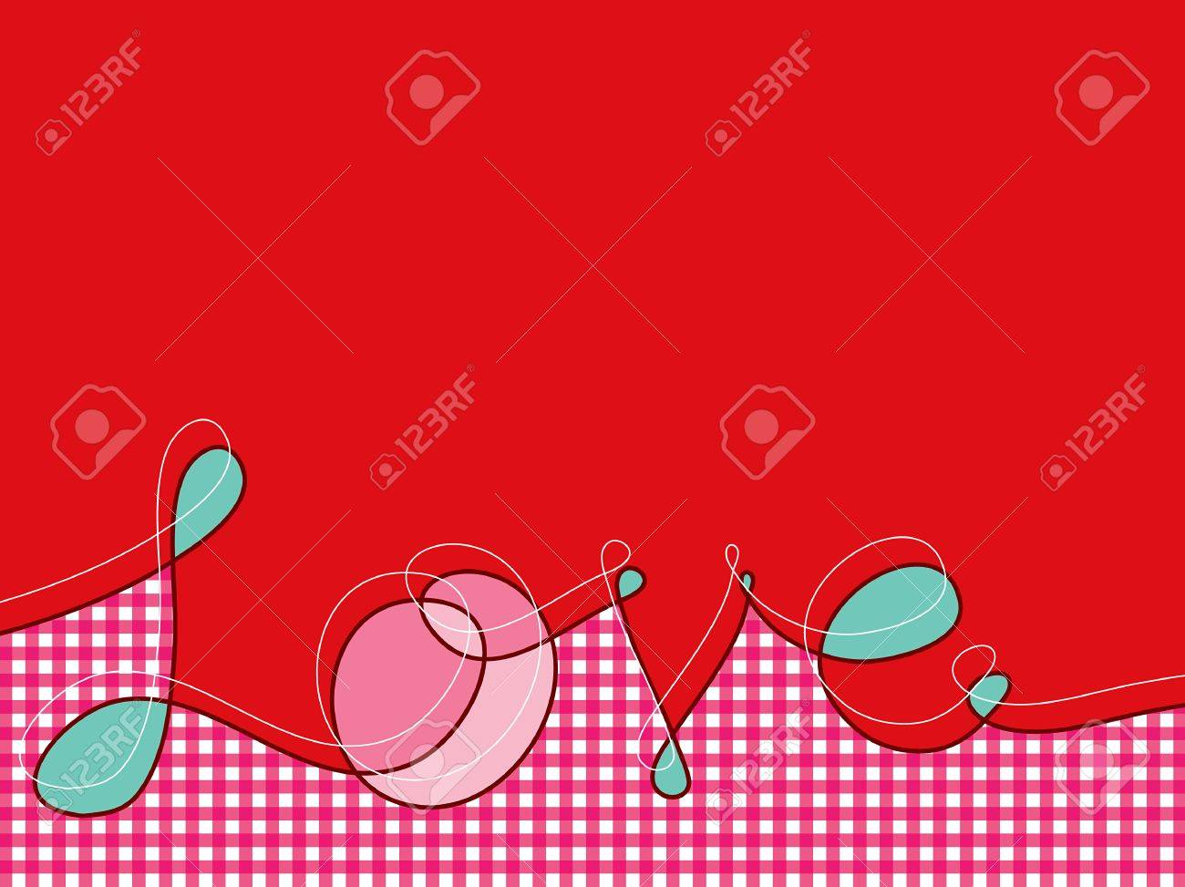 loopy love lines with pink plaid Stock Vector - 1805228