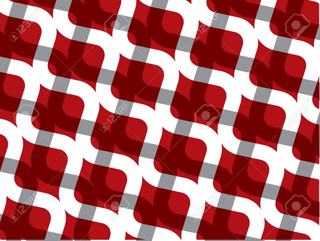 retro red white chain pattern (vector) Stock Vector - 1920252