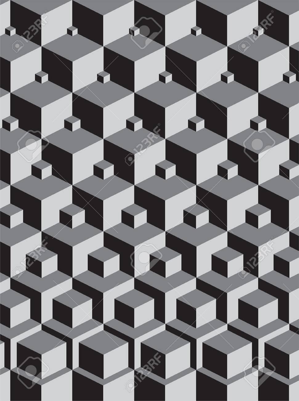 エッシャー スタッキング キューブ アートに触発のイラスト素材 ベクタ Image