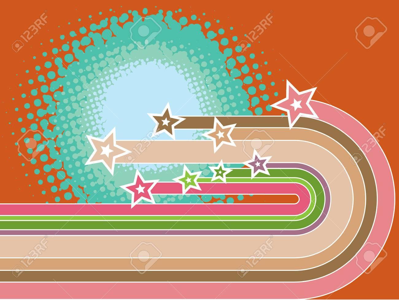 retro pop stripes superstar curves (vector) Stock Vector - 2033936