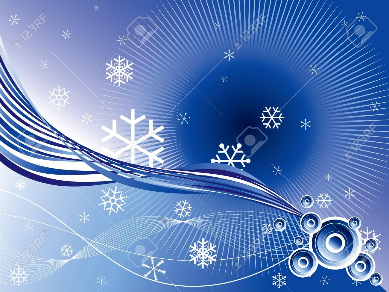 winter retro circles twist background Stock Vector - 2079337