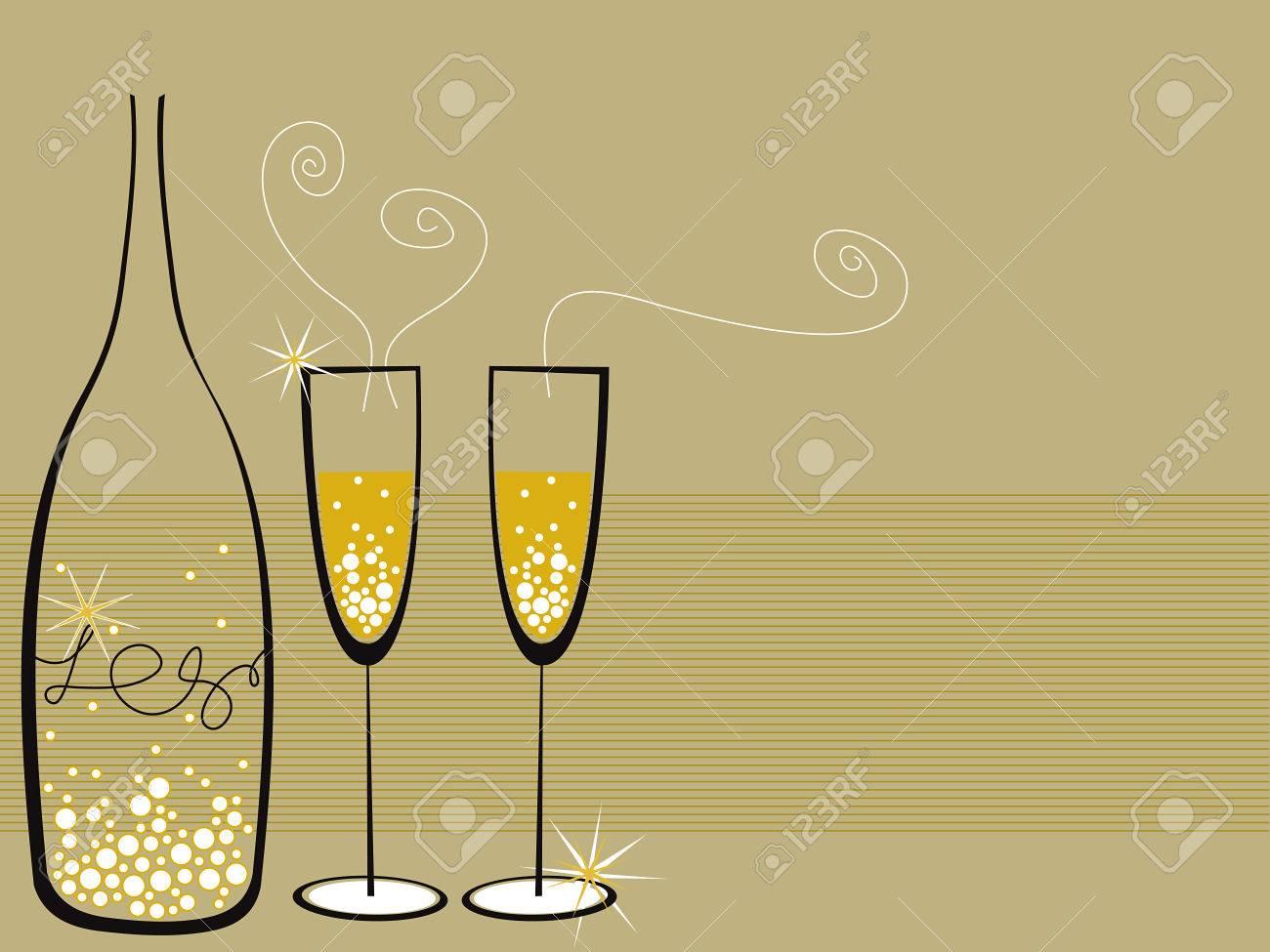 champagne bubbles celebration Stock Vector - 2196561