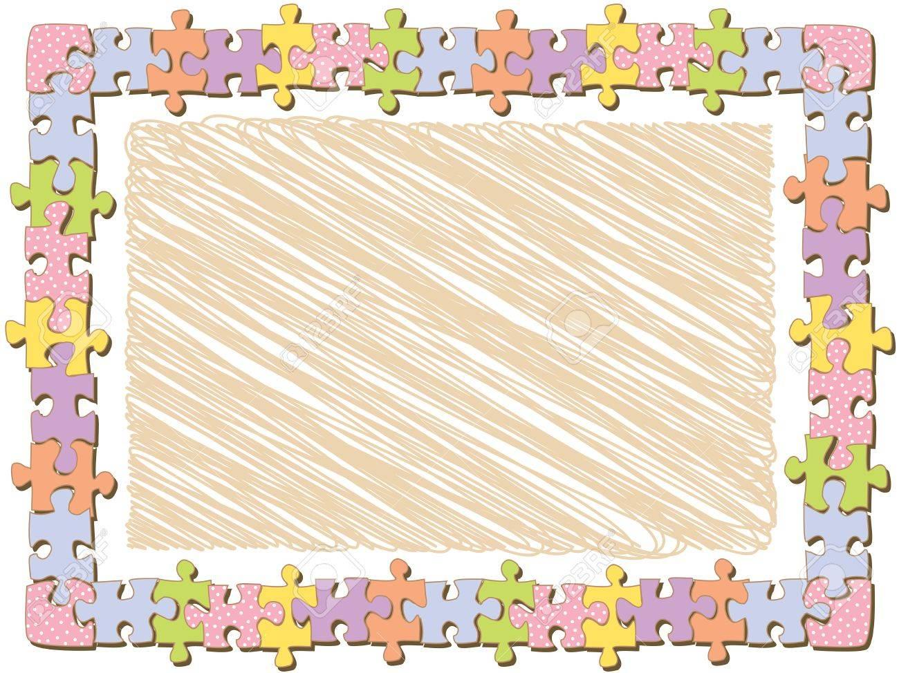Puzzle Piece Frames Frame Border Puzzle