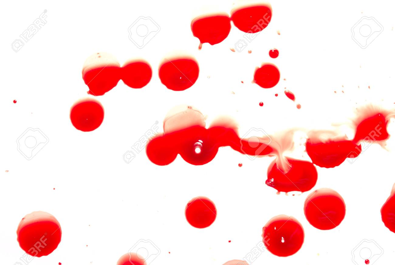 Abstract blood on white background Stock Photo - 4032275