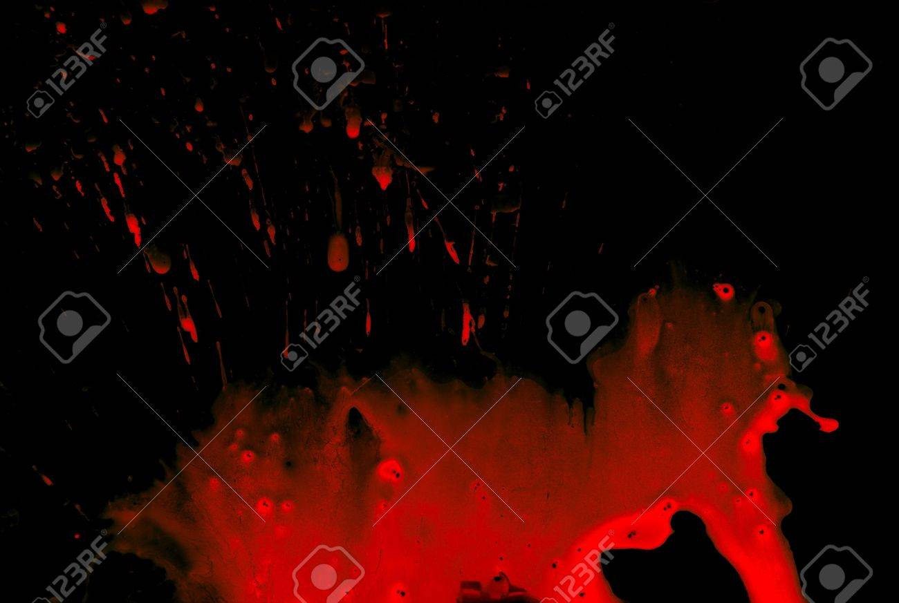 Abstract blood on black background Stock Photo - 4032278