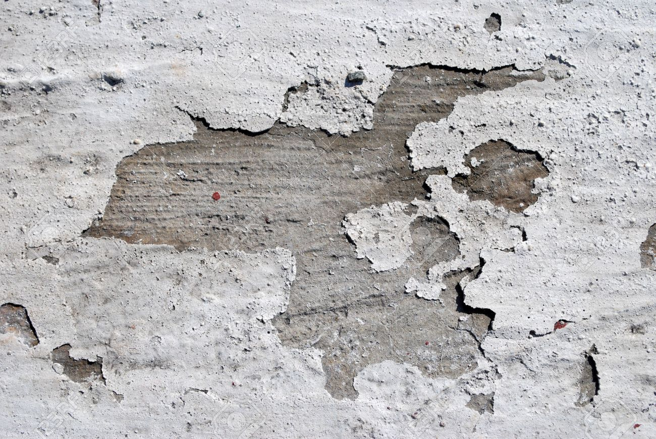 A Closeup View Of The Texture And Look Of White Paint Cracking