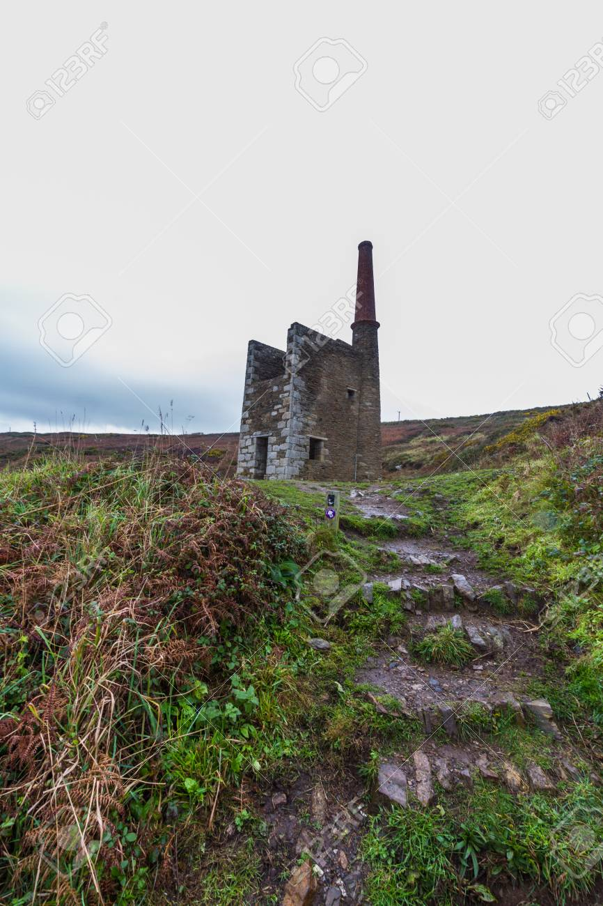 Ruined beam engine house for Wheal Prosper Tin and Copper Mine