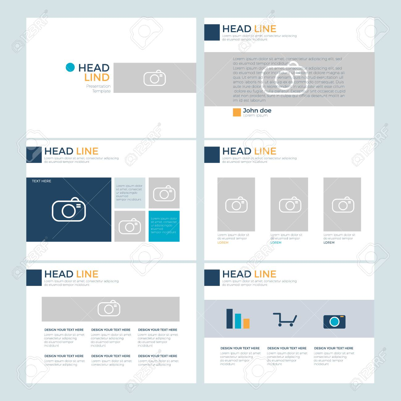 set power point presentation template layout design background