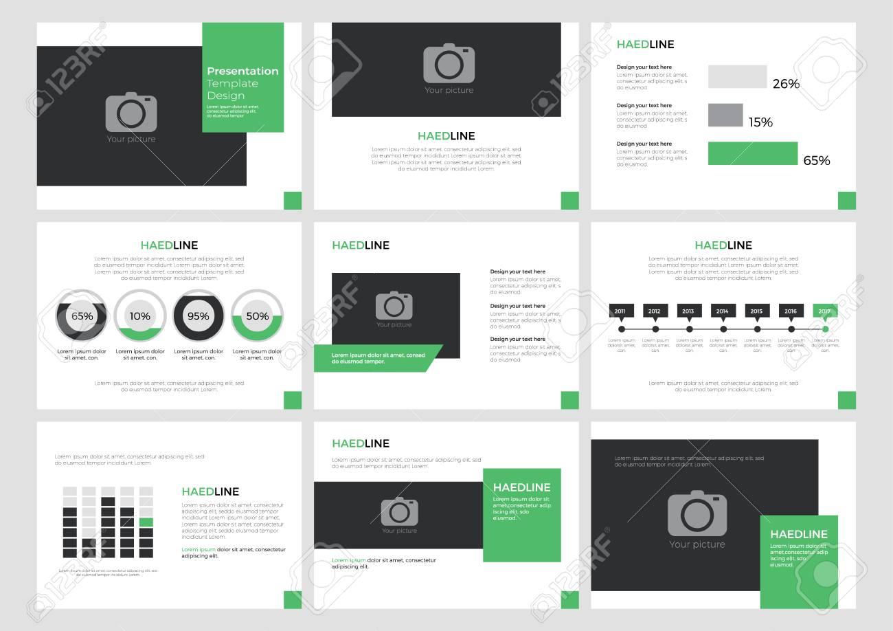 Präsentationsvorlage Layout-Design, Hintergrund-Power-Point, Element ...